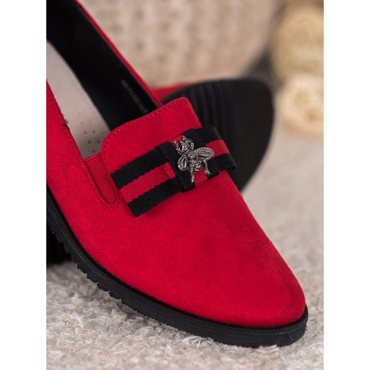 Goodin Lekkie Lordsy Z Ozdoba Czerwone Womens Heels Dress Shoes Men Leather Heels