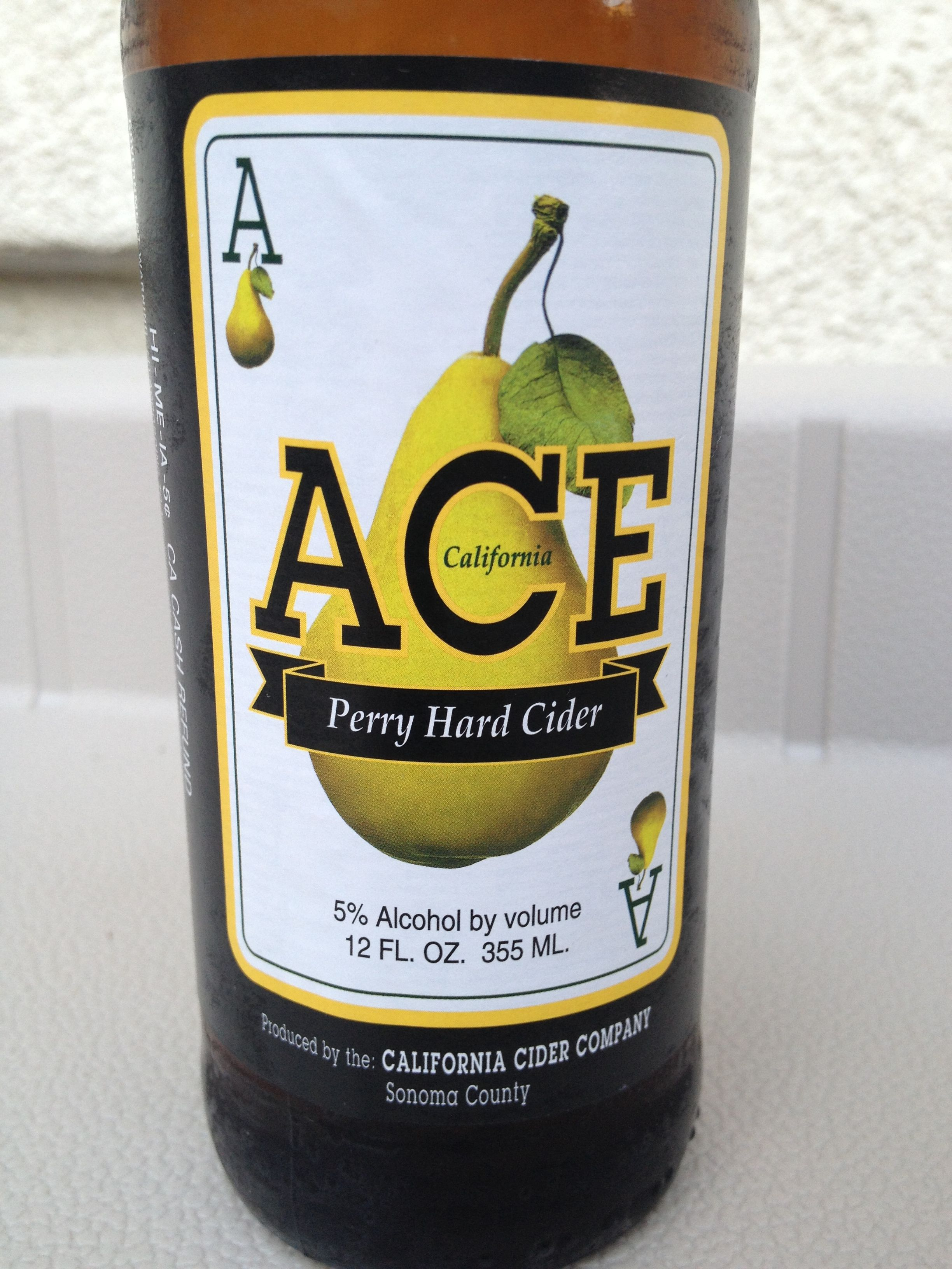 ACE Perry Hard Cider (pear) Gluten free beer, Gluten
