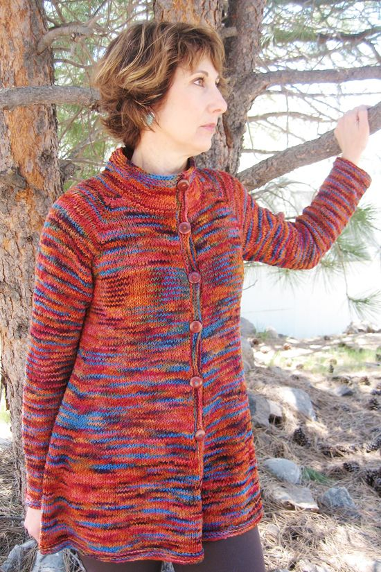 285 Neck Down Swing Coat Knitting Pure And Simple Knitting