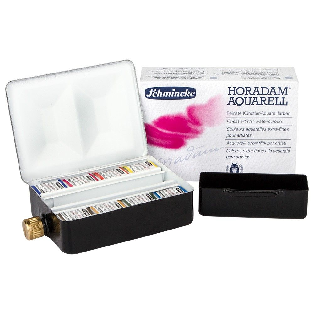 Schmincke Horadam Watercolour Paint Metal Set 8 Half Pans