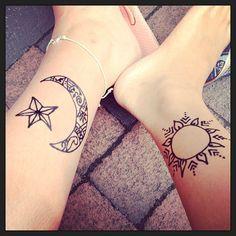Sun Moon Tatoo Ankle Google Search Tattoo Piercings Pinterest