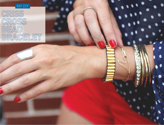 I Spy DIY: [MY DIY] Criss Cross Bead Bracelet