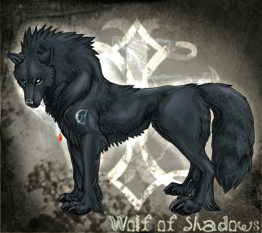 Full Moon Wolf Demon Wolf Anime Wolf Shadow Wolf