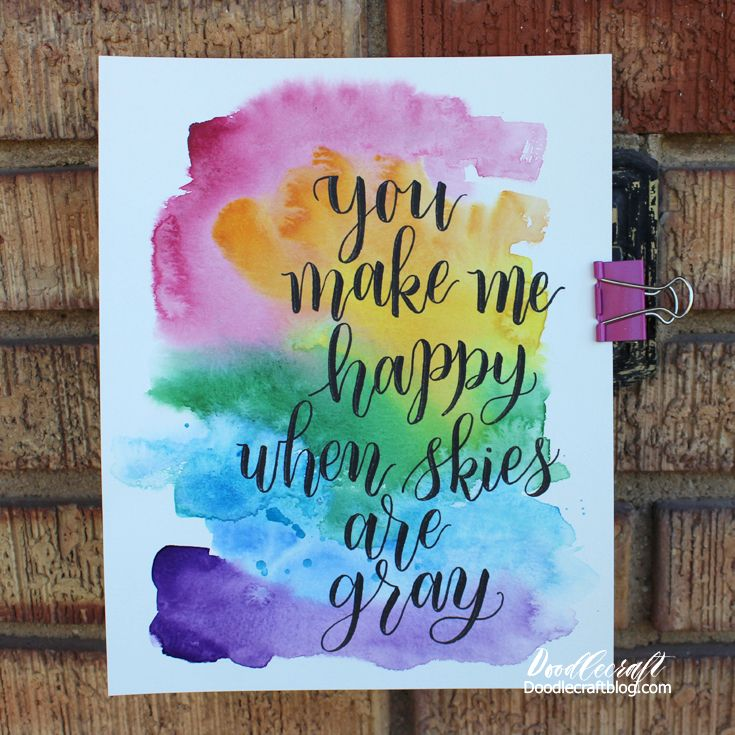 Doodlecraft: Watercolor Wash & Calligraphy Lettering Quotes