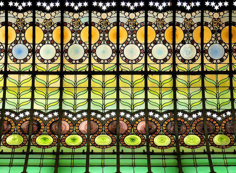 Sabadell Gràcia 17 X Stained Glass Art Nouveau Architecture Art Nouveau