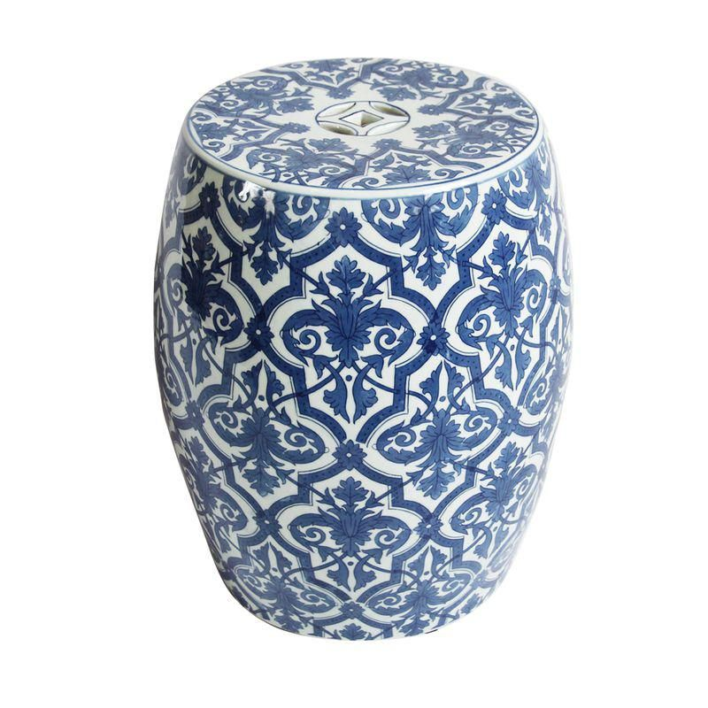 Pleasant Blue White Ceramic Garden Stool In 2019 Products Machost Co Dining Chair Design Ideas Machostcouk