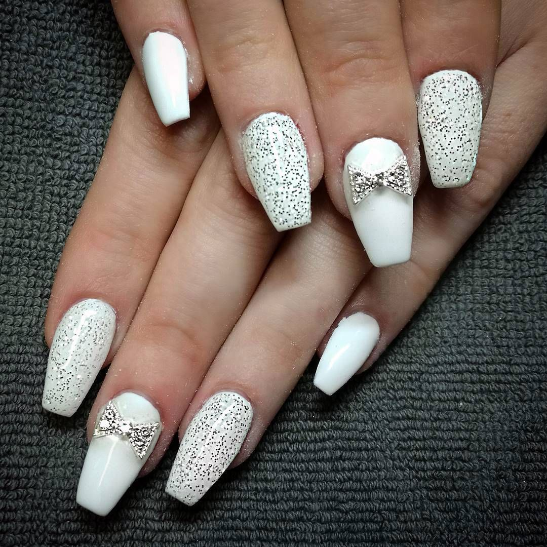 Coffin Designs Cool 25 Fancy White Coffin Nails Bright And Fasionable Designs