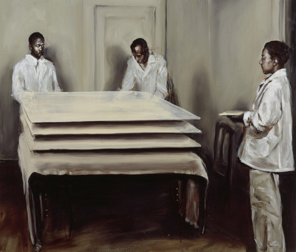 Michaël Borremans One at the Time 2003 85 x 100 cm oil on canvas