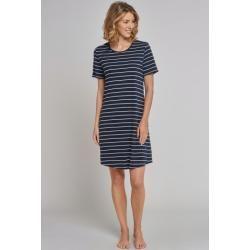 Photo of Nightgown short sleeve stripes midnight blue – Original Classics 44