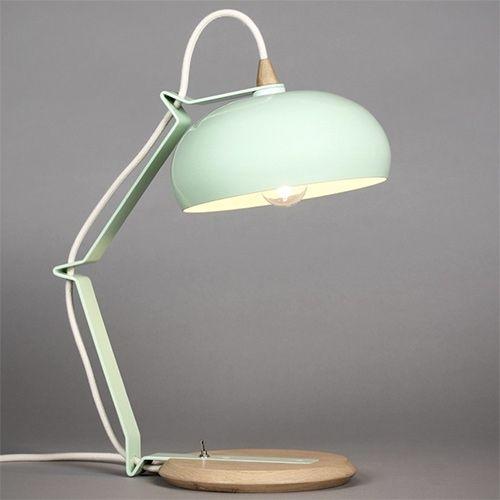 Lampari Rhoda TBS vert céladon / blanc - Lampe petit modèle.