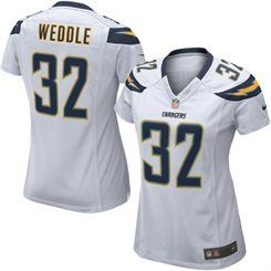 nike eric weddle san diego chargers womens white game jersey