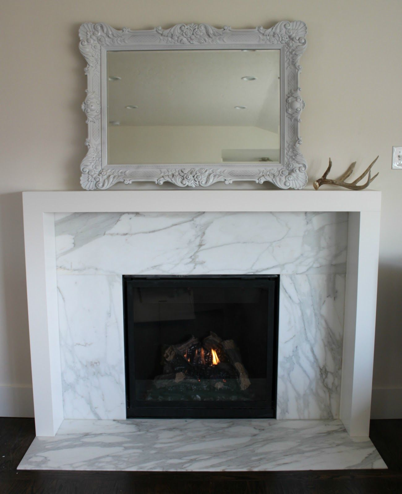 Take The Mantle All The Way Around No More Floating Mantles Marble Fireplace Surround Modern Fireplace Contemporary Fireplace