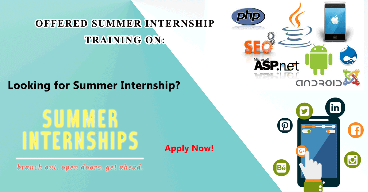 Summer Internship With Live Project Training Batches Starting From 27th March 2017 And Digital Marketing Services Digital Marketing Student Encouragement