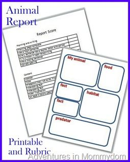 How To Write An Animal Report With Free Printable  Animal
