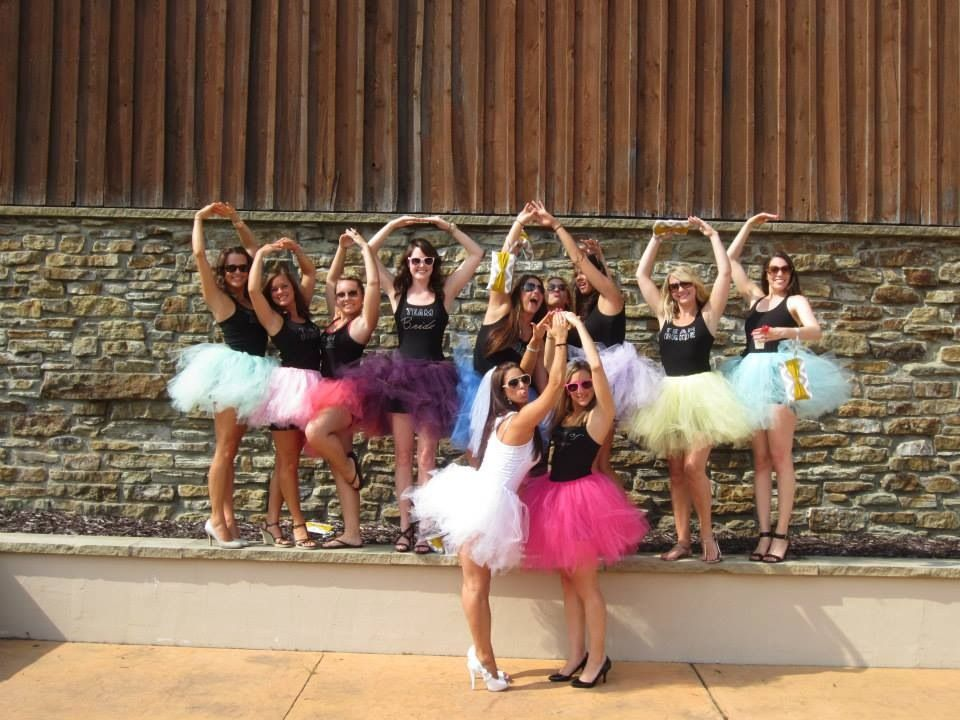 0cf15d2cb9 Bachelorette Tutu party!! LOVE THIS! I like a bit longer tutus and converse  or flip flops but LOVE LOVE.