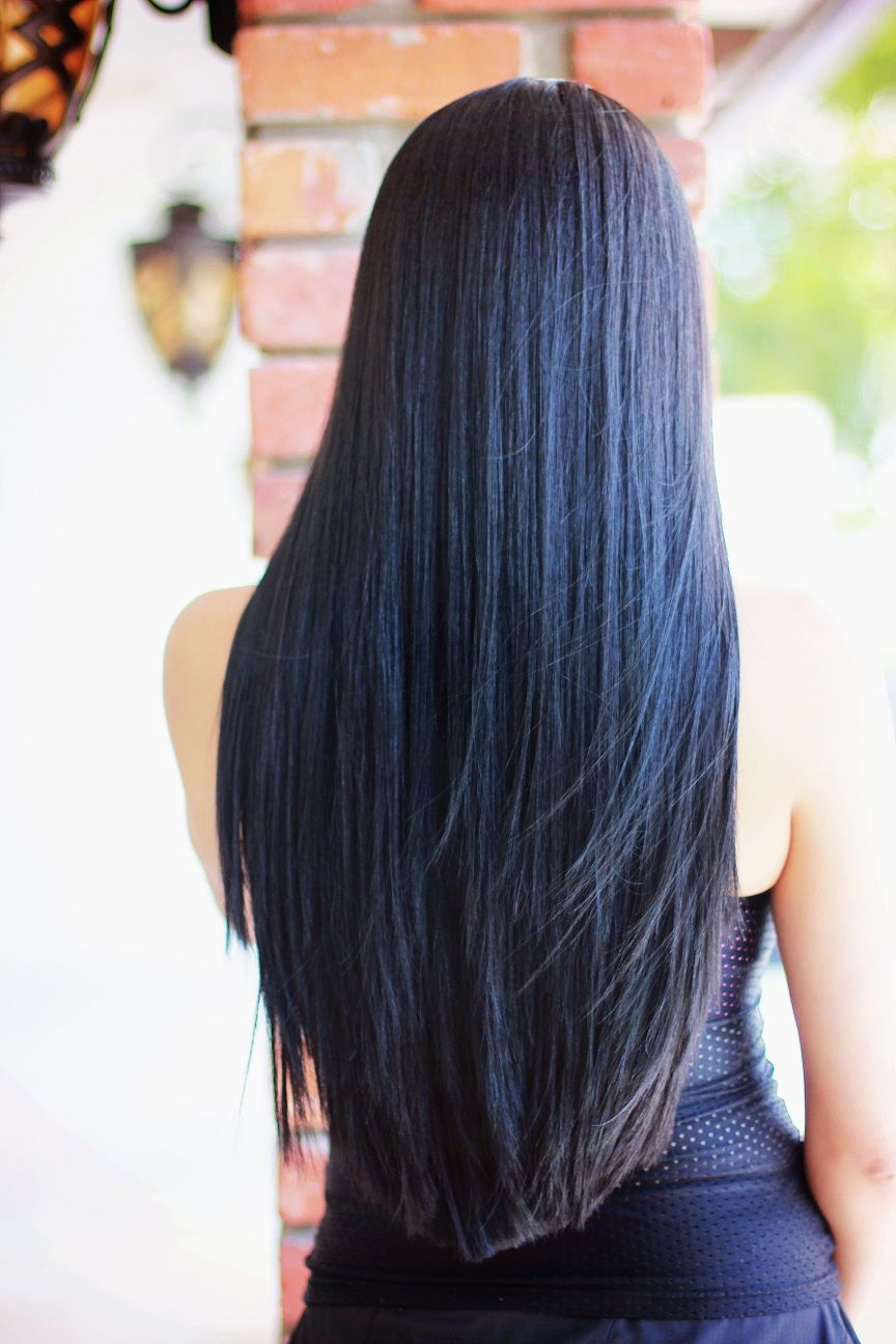 The Most Perfect Long Black Hair Yessimacias Waist Length Hair Hair Long Dark Hair