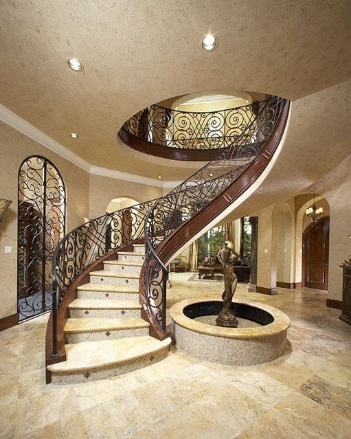 Luxury staircase design stairs pinned by for Luxury staircases