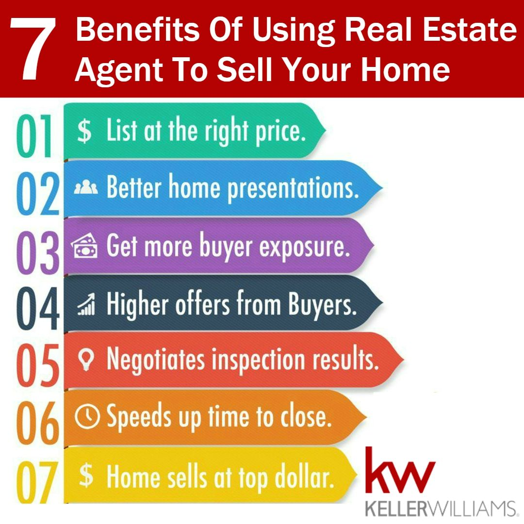 7 Benefits of using real estate agent to sell your home.