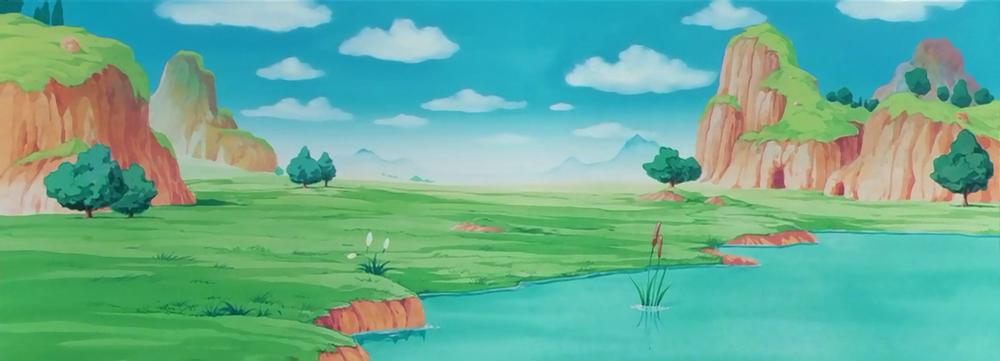 Break Wasteland Fantasy Landscape Dbz Anime Background