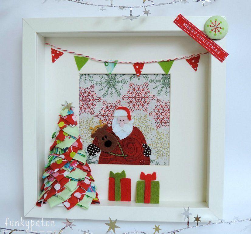 facilisimo.com, Yo,Funkypatch, os traigo una idea para decorar un árbol de Navidad en tela si agujas. A partir de este árbol luego he creado un marco 3D muy original.    Espero encontréis la inspiración para crear y divertiros con estás manualidades.  Gracias a mis compañeras y colaboradoras por dejarme compartir sus creaciones.  Os deseo una feliz semana......tic, tac. tic, tac, la cuenta atrás para la Navidad ha empezado!!!  Livy