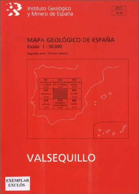 #nabibgeo Mapa geológico de España. E. 1:50.000. Valsequillo (857). 1a ed. 2a ser. Madrid : Servicio de Publicaciones. Ministerio de Industria, 1972-. 1 mapa + 1 memòria [DATA: 10/10/2013]