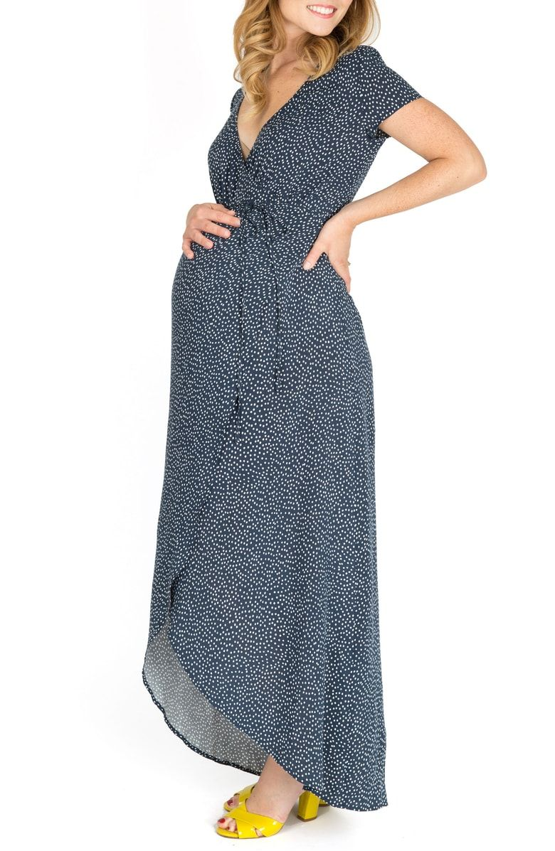 Nom Maternity Delilah Maternity Nursing Wrap Maxi Dress Nordstrom Maxi Dress Maxi Wrap Dress Wrap Dress [ 1197 x 780 Pixel ]