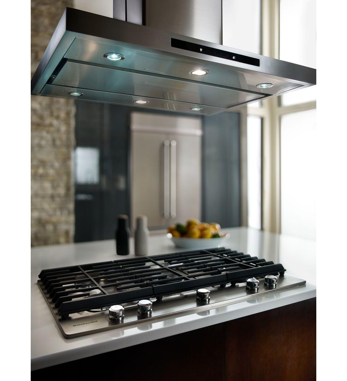 KitchenAid® 36u0027u0027 5 Burner Gas Cooktop With Griddle