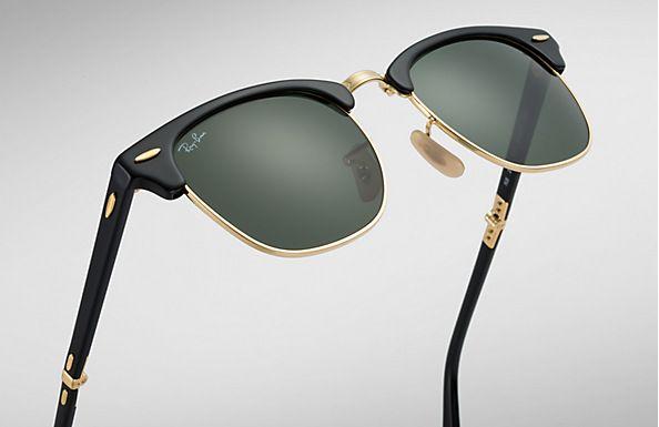 1077e891a Compre Óculos de Sol Ray-Ban CLUBMASTER DOBRÁVEL na loja oficial online Ray- Ban Brasil. Frete Grátis em todos os pedidos!