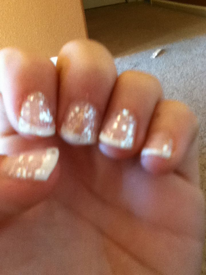 Short fake nails with glitter | Haley | Pinterest | Short fake nails