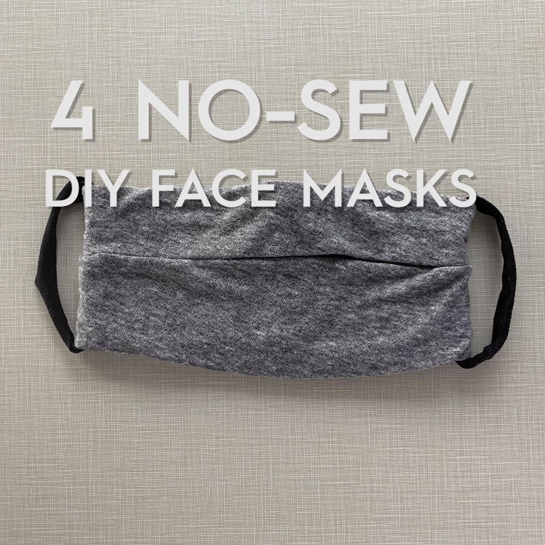 Four Easy Ways to Make a No-Sew Face Mask