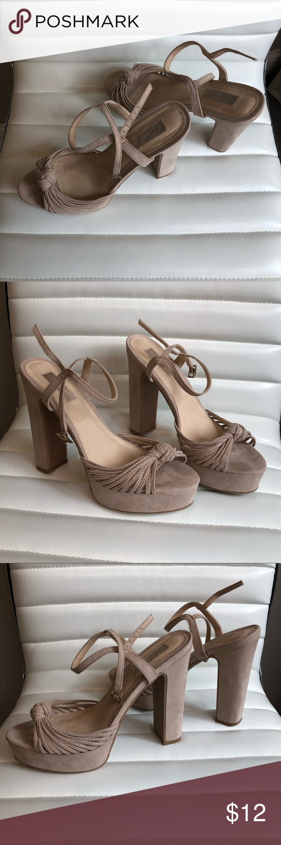 99ce6a75d69 Forever 21 nude block heels Size 7 Forever 21 nude block heels size 7 worn  once