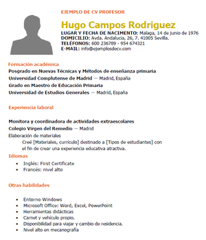 Profesor Free Resume Examples Resume Examples Free Resume