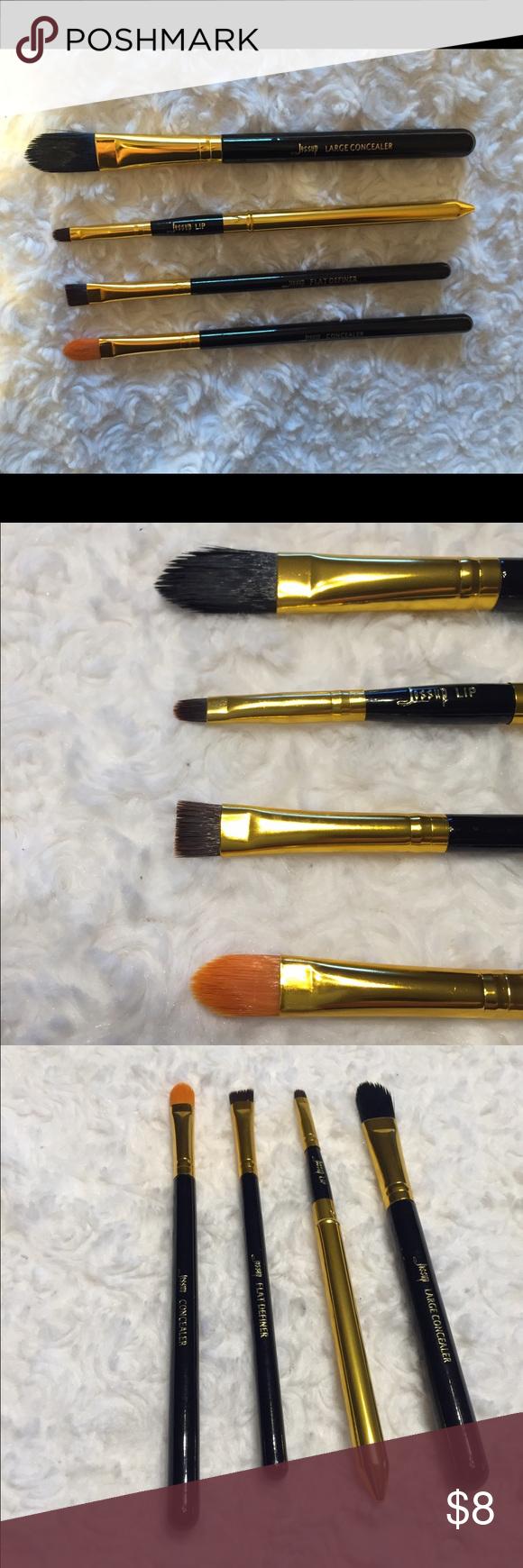 Jessup brush bundle Large concealer brush, lip brush, flat