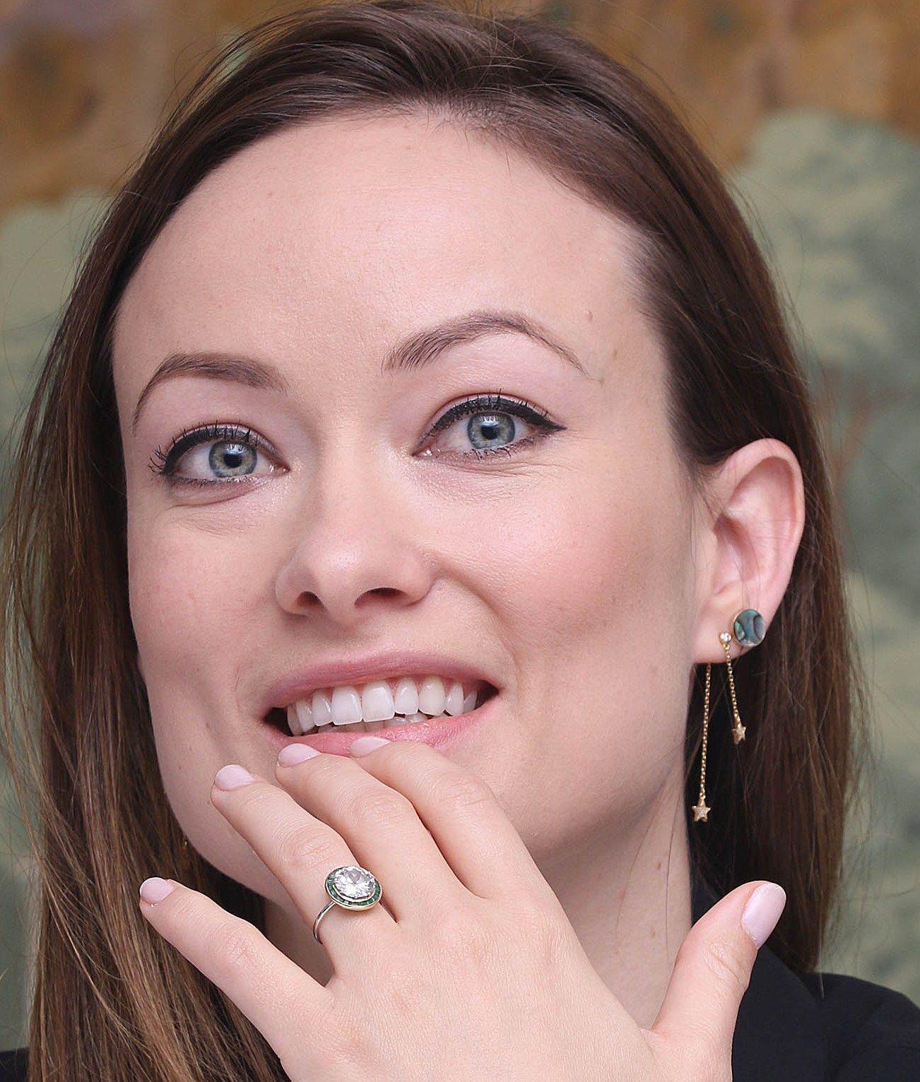Olivia Wilde engagement ring | celebrity engagement rings | Pinterest