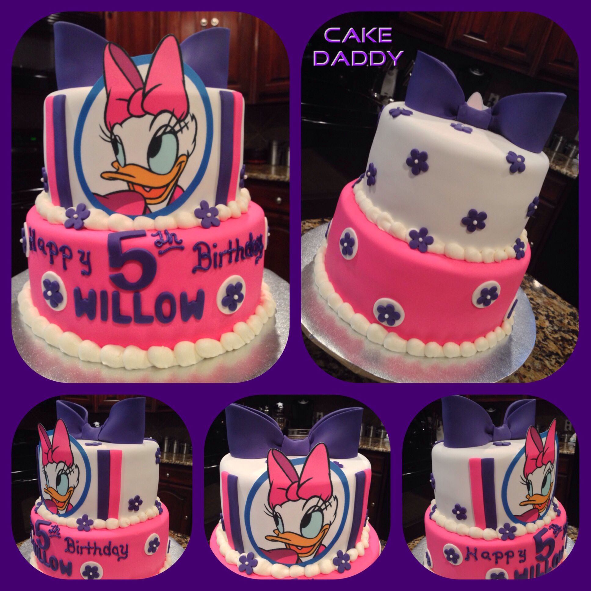 Tremendous Pin By Monica On Food Birthday Daisy Duck Party Daisy Duck Cake Personalised Birthday Cards Paralily Jamesorg