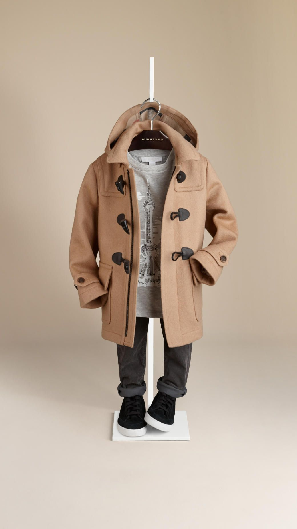Duffle-coat en laine   Burberry   imad   Pinterest   Kids fashion ... 5613bc77485