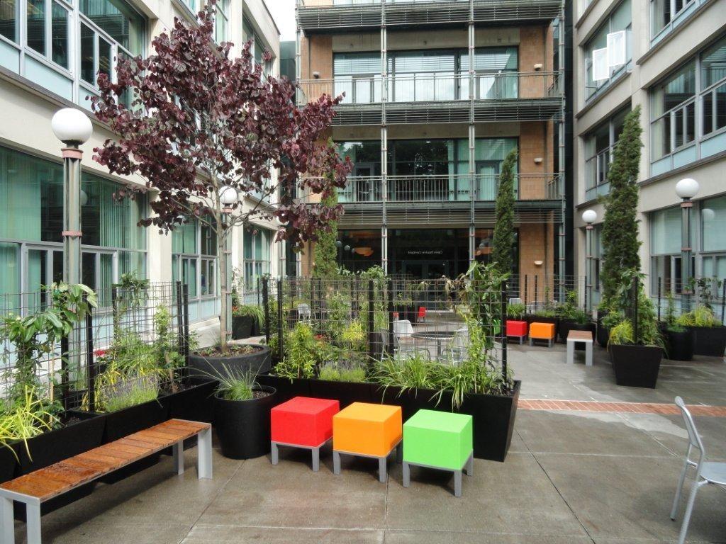 OHSU School of Nursing PopUp Courtyard Planters