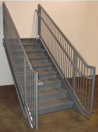 Diamond Plate Stair Treads See More Http://awoodrailing.com