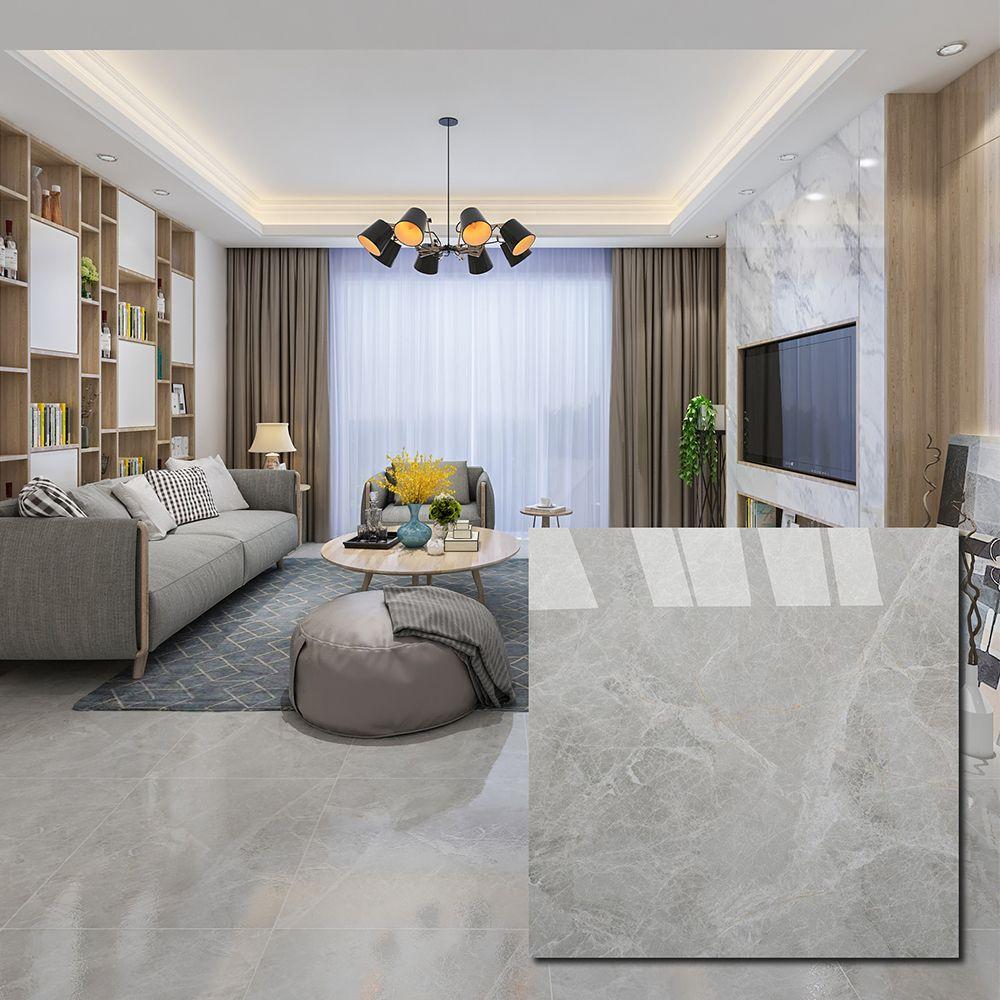 Grey Glazed Porcelain Floor Tile Grey Tiles Living Room Tile Floor Living Room Living Room Tiles