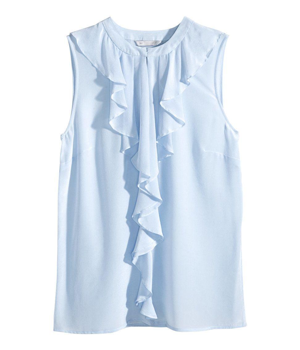 e4877e4021e9f Powder blue sleeveless