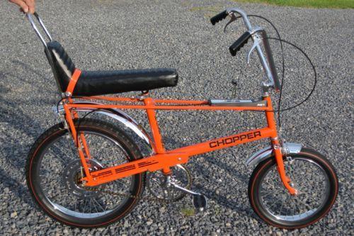1969 Orange Raleigh Chopper Bicycle Vintage All Original Components Sweet Find Raleigh Chopper Vintage Bicycles Chopper