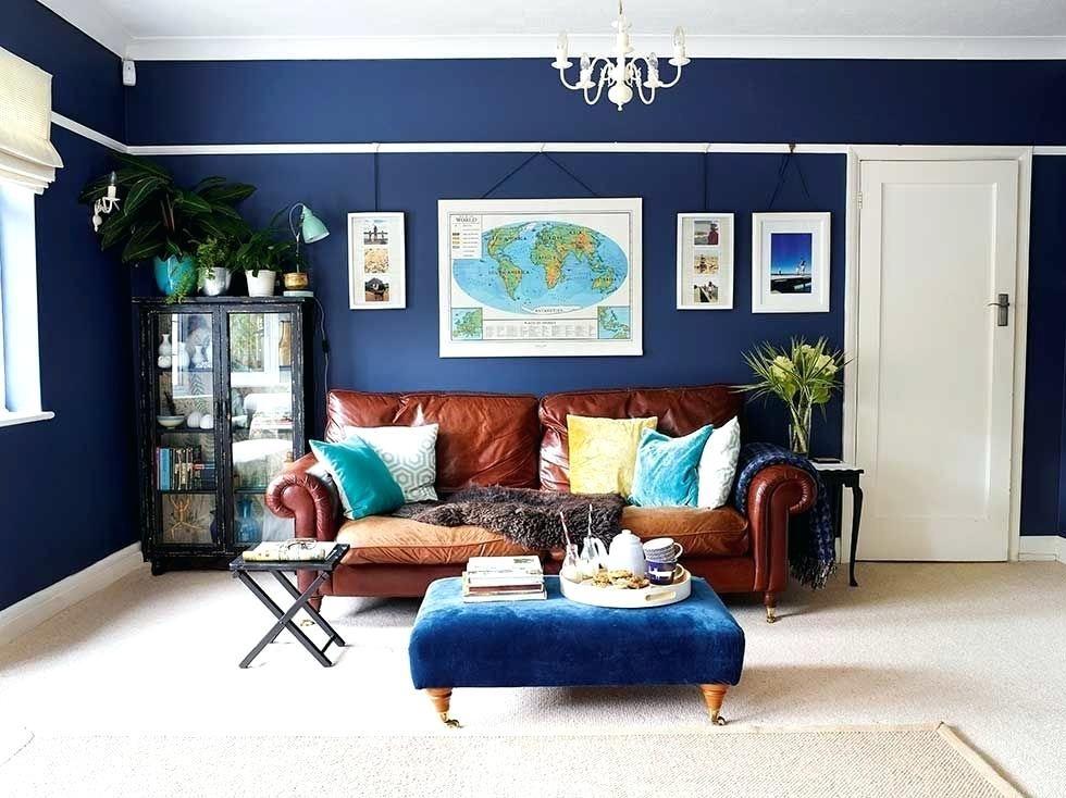 tan leather sofa living room ideas blue - Google Search ...