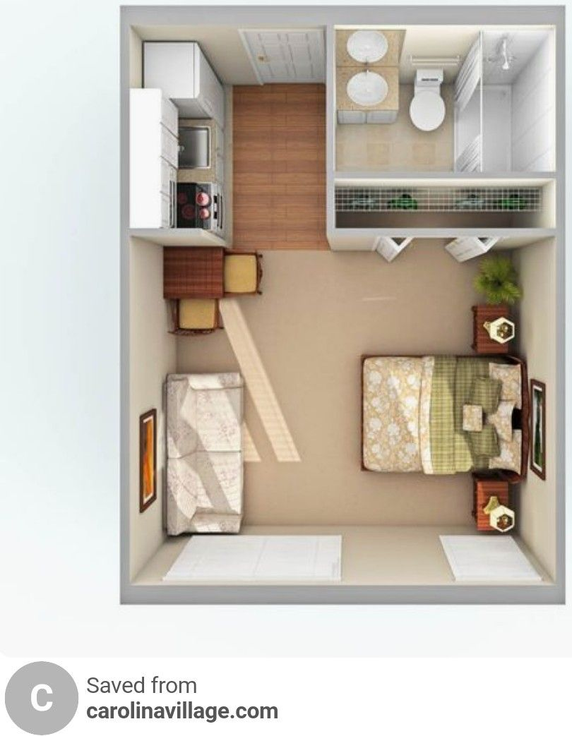 Pin By Yayan Yayan On Tiny House Creation Small Studio Apartments Studio Apartment Layout Apartment Layout
