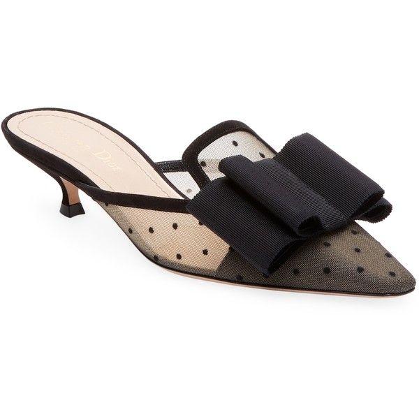 81e62661d5f Dior Women s Polka Dot Mules - Cream Tan