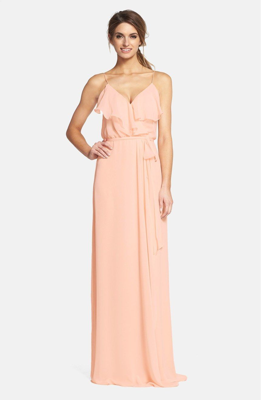 04347c50df nouvelle AMSALE  Drew  Ruffle Front Chiffon Gown. Soft and romantic