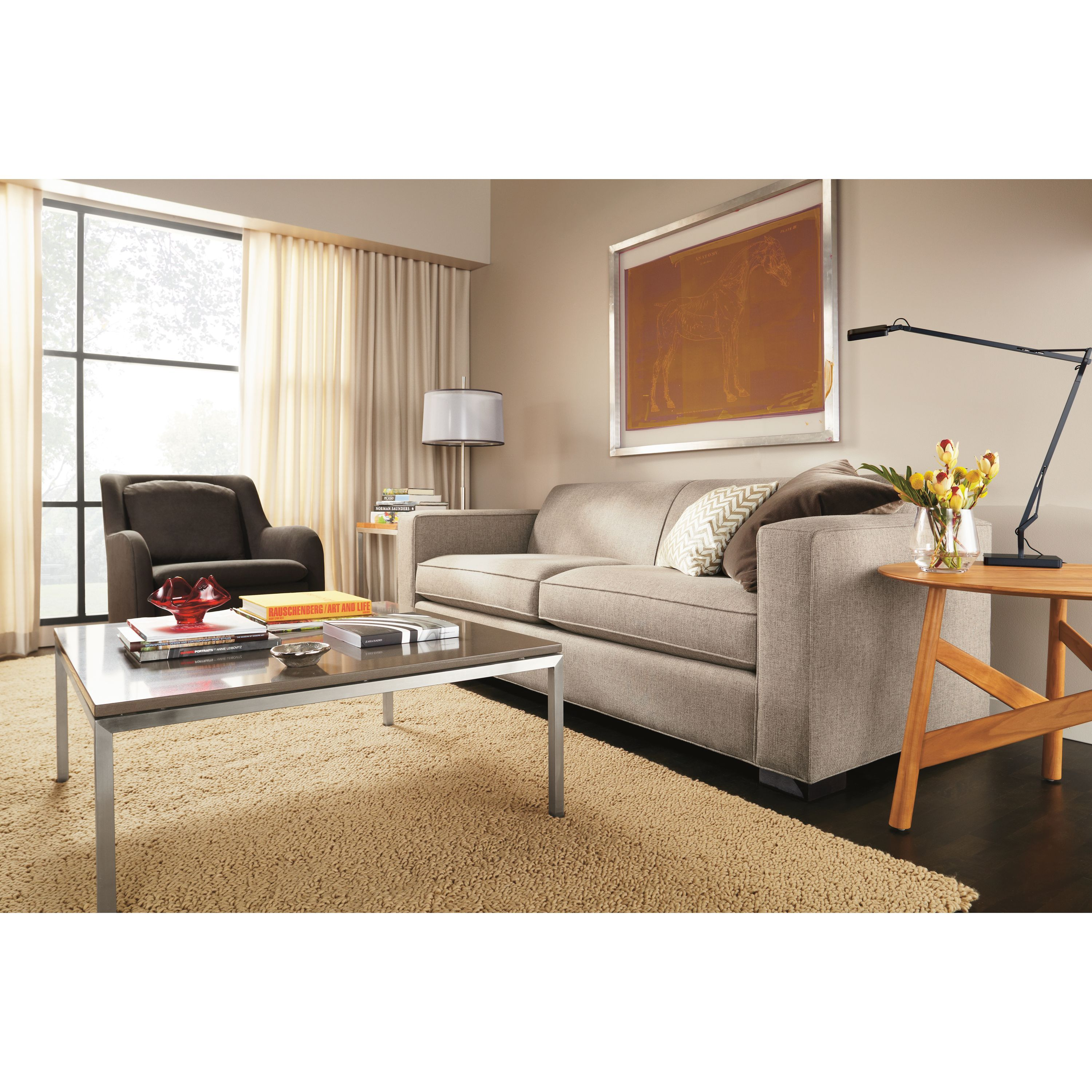 Astounding Room And Board Ian Sofa Baci Living Room Onthecornerstone Fun Painted Chair Ideas Images Onthecornerstoneorg