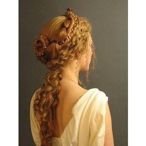 Medieval Princess Hairstyle Fantasy Cosplay Pinterest Greek Hair Victorian Hairstyles Renaissance Hairstyles