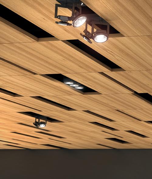Oberflex fabriquant de panneaux d coratifs en bois for Type de faux plafond
