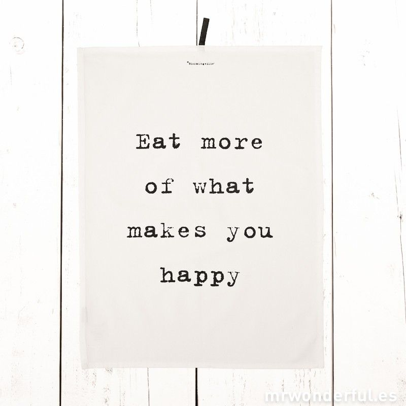 "Trapo de cocina ""Makes you happy"""
