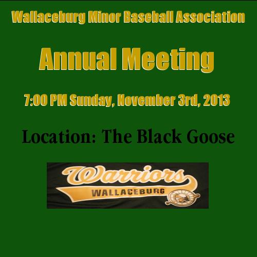 Wallaceburgwarriors Com Wallaceburg Warriors Wallaceburg On Wallaceburg Minor Baseball Association Western Counties Base Annual Meeting Warrior Baseball